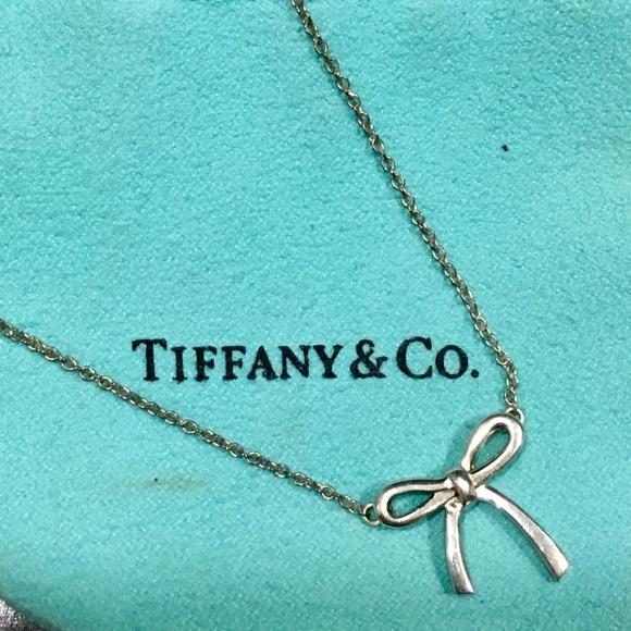 a302806d2 Tiffany & Co. Jewelry   Tiffany Co Mini Bow Necklace   Poshmark